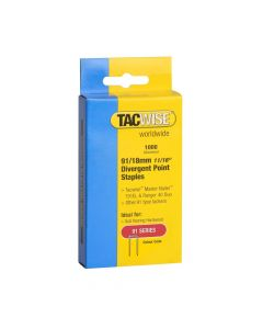 Tacwise Type 91 - 18mm Divergent Point Staples (1,000 Pack) - 0287