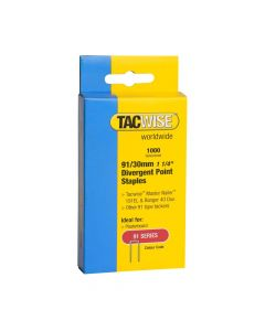 Tacwise Type 91 - 30mm Divergent Point Staples (1,000 Pack) - 0289
