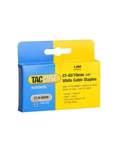 Tacwise Type CT-45 - 10mm White Cable Staples (5,000 Pack) - 0353