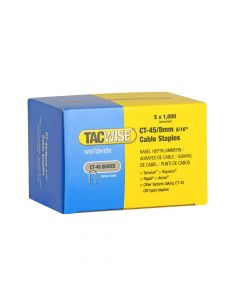 Tacwise Type CT-45 - 8mm Cable Staples (5,000 Pack) - 0351