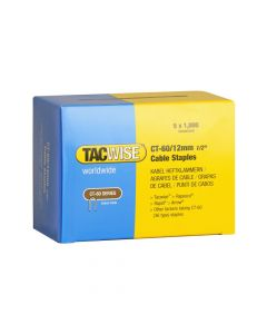 Tacwise Type CT-60 - 12mm Cable Staples (5,000 Pack) - 0355