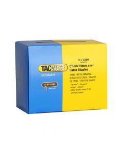 Tacwise Type CT-60 - 14mm Cable Staples (5,000 Pack) - 0356