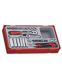 Teng 35 Piece Socket Set 4-13mm - 1/4in Drive - TENTT1435