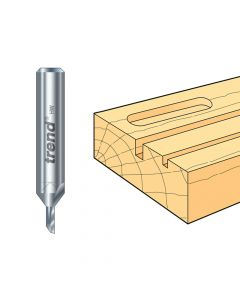 Trend 2/01 x 1/4 TCT Single Flute Cutter 1.5 x 6.0mm - TRE20114TC
