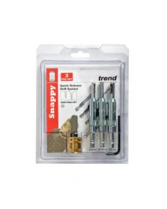 Trend Drill Bit Guide Set with Quick Chuck - 5/64in, 7/64in & 9/64in - TRESNAPDBGS