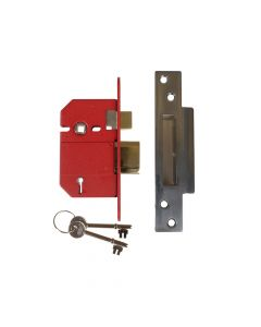 UNION StrongBOLT 2200S BS 5 Lever Mortice Sashlock Satin Chrome 68mm Box - UNNJ2200SC25