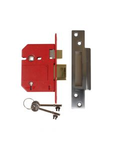UNION StrongBOLT 2200S BS 5 Lever Mortice Sashlock Satin Chrome 81mm Box - UNNJ2200SC30
