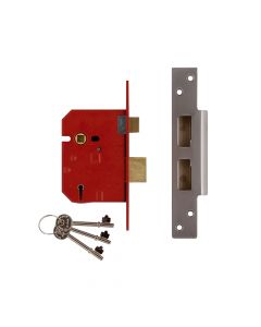 UNION 2234E 5 Lever BS Mortice Sashlock Satin Chrome Finish 67mm 2.5in Box - UNNJ2234EC25