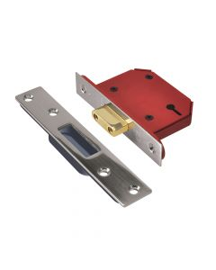 UNION StrongBOLT 2103S 3 Lever Mortice Deadlock Stainless Steel 68mm 2.5in Visi - UNNY2103SS25