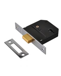UNION ES-DL Essentials 3 Lever Mortice Deadlock Polished Brass 79mm 3in Visi - UNNYESDLPB30