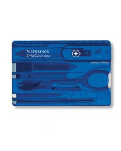 Victorinox Swiss Card Translucent Blue Blister Pack - VICJSWCDBLB