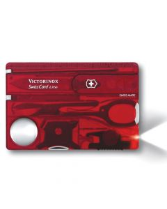 Victorinox SwissCard Lite Translucent Red Blister Pack - VICJSWCLRDB