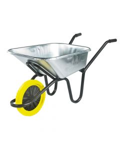 Walsall 120L Galvanised Heavy-Duty  Invincible Wheelbarrow - Puncture Proof - WALIGVPPDD