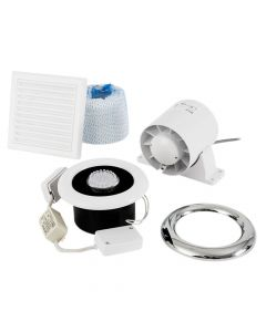 Xpelair Airline LED Shower Fan Kit With Timer 100mm - XPL93291AW