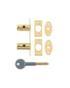 Yale 8001 Security Bolts Brass Finish Pack of 2 Visi - YALV80012PL