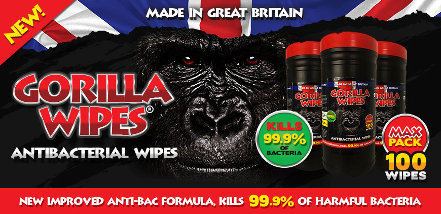 New Gorilla Wipes MAX Pack - 100 Wipes